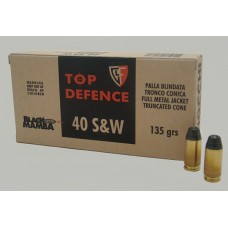 CARTRIDGE FIOCCHI 40S&W Black Mamba FMJTC 135gr