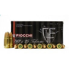 CARTRIDGE FIOCCHI 7.62X25 85gr