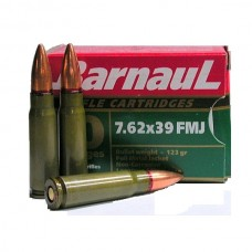 CARTRIDGE BARNAUL 7.62X39 FMJ 123gr