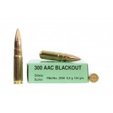 CARTRIDGE SELLER & BELLOT Cal. 300 AAC  BLACKOUT, 124 gr.