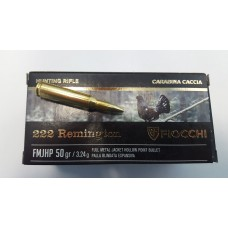 CARTRIDGE FIOCCHI .222REM FMJHP 50gr