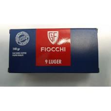 CARTRIDGE FIOCCHI Cal 9x19 LUGER, FNCP, 148gr.