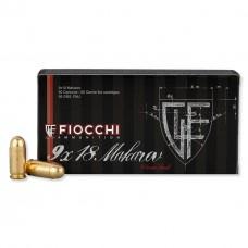 CARTRIDGE FIOCCHI 9x18 Makarov FMJ 95 grs.