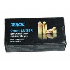 CARTRIDGE ZVS 9X19 FMJ 124gr